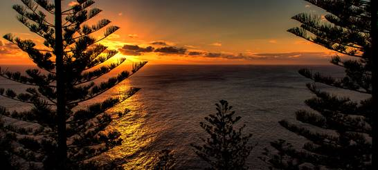 Sunset Norfolk island